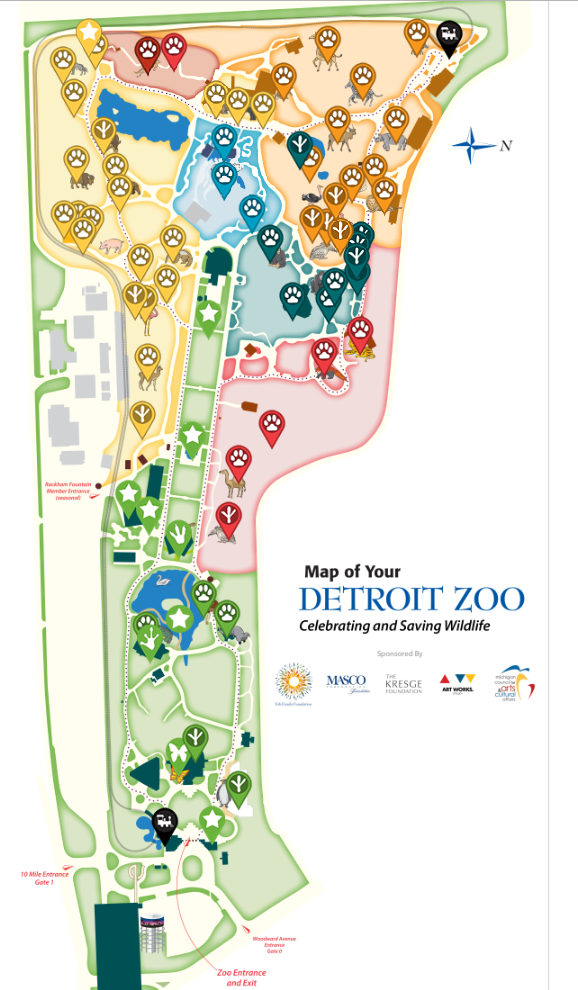 map of detroit zoo Detroit Zoo Rich Sherwood map of detroit zoo